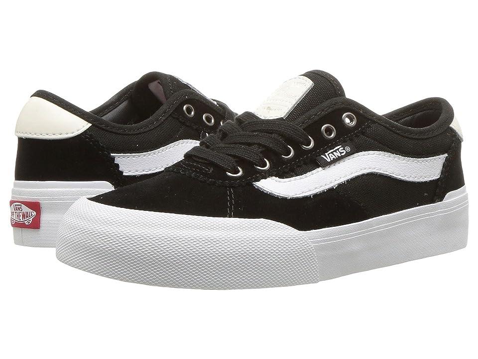 Vans Kids Chima Pro 2 (Little Kid/Big Kid) ((Suede/Canvas) Black/White) Boys Shoes