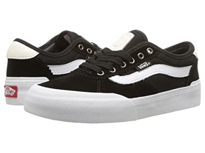 Vans Kids Chima Pro 2 (Little Kid/Big Kid) ((Suede/Canvas) Black/White) Boys Shoes