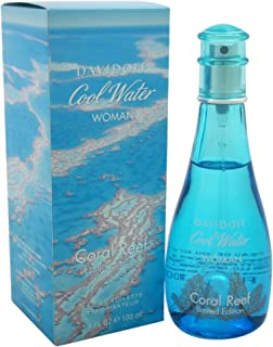 Davidoff Cool Water Coral Reef Eau De Toilette Spray, Limited Edition, 3.4 Ounce