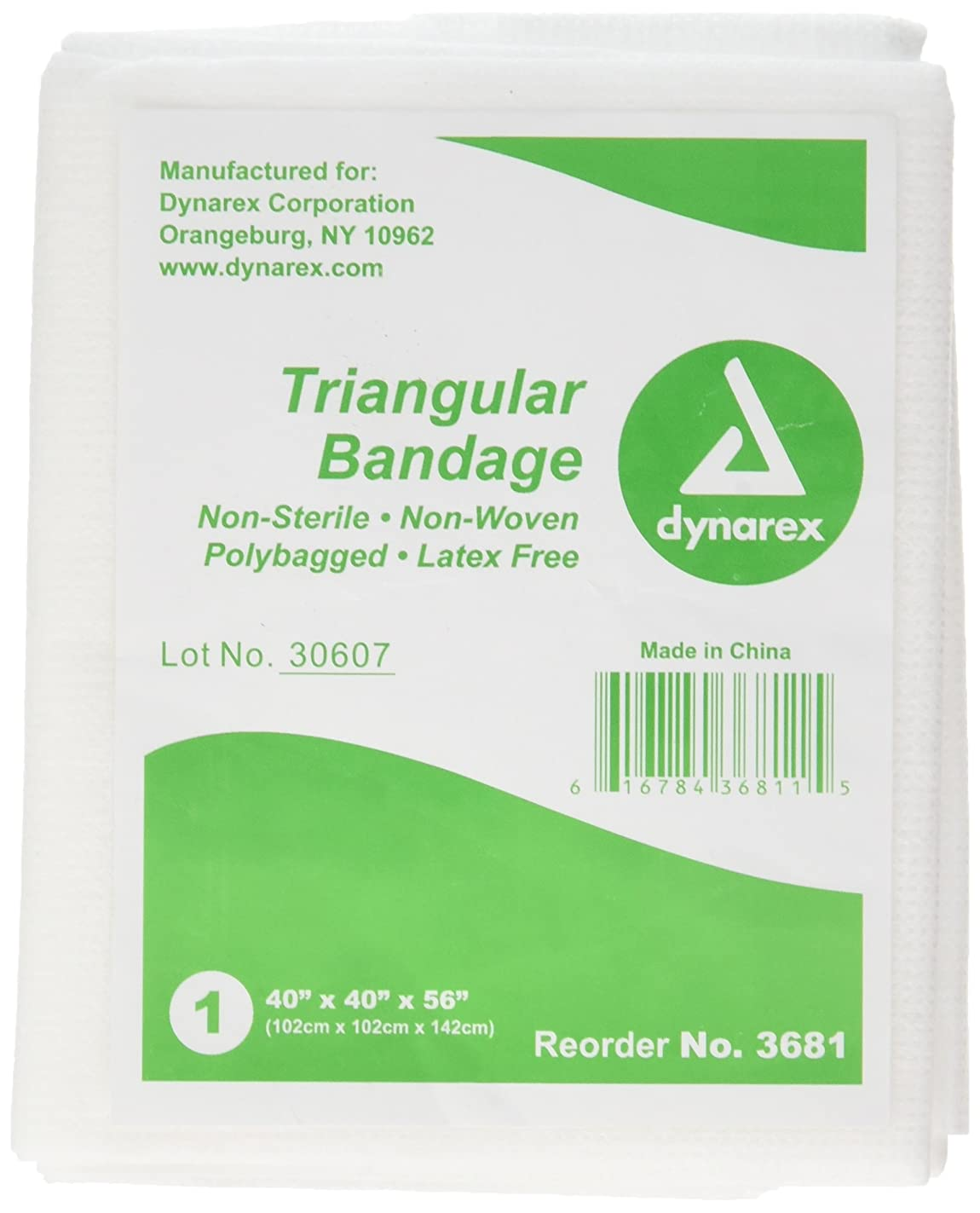 Medique Products 65001 Triangular Bandage, Non Sterile, With Pins