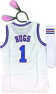 Youth Basketball Jersey Bugs #1 Moive Space Jam Jerseys Bunny Shirts for Kids