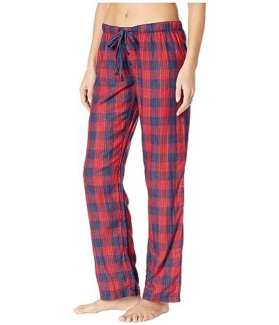 P.J. Salvage Winter Escape Plaid Pants (Red) Women