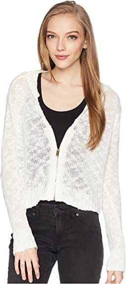 Roxy Wildlife Park Crop Zip Sweater