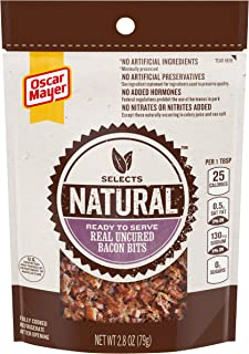 Oscar Mayer Real Uncured Bacon Bits (2.8 oz Packages, Pack of 6)