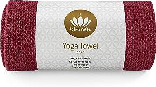 Lotuscrafts Toalla Yoga Antideslizante Grip - Antideslizante y de Secado Rápido - Manta Yoga Antideslizante - Toalla Microfibra Deporte - Toalla de Yoga para Hot Yoga [183 x 61 cm]