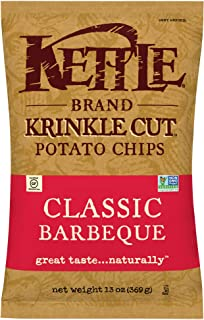 Kettle Brand Potato Chips, Krinkle Cut Classic Barbeque, 13 Ounce Bag