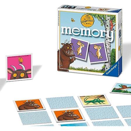 Ravensburger Italy The Gruffalo Memory in Formato Pocket, 15x15 cm, Gioco, 24 Coppie in Cartone, 48 Carte, per Bambini a Partire da 4 Anni, da 2 a 8 Giocatori, Multicolore, 22279