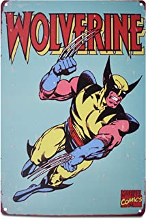 K&H Wolverine Retro Metal Tin Sign Poster Wall Display 12X8-Inch