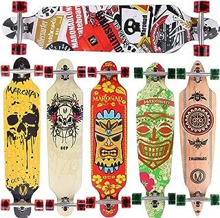 PROKTH Skateboard Largo Papel de Lija Antideslizante Scooter-Sticker Resistente al Desgaste Longboard Stickers 47.25x9.85inch 1pcs