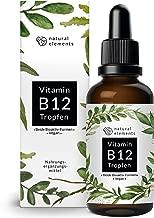 Vitamin B12 Tropfen 1000µg - 50ml (1700 Tropfen) - Beide Aktivformen (Methyl- & Adenosylcobalamin) - Ohne Alkohol, laborgeprüft, vegan & hergestellt in Deutschland