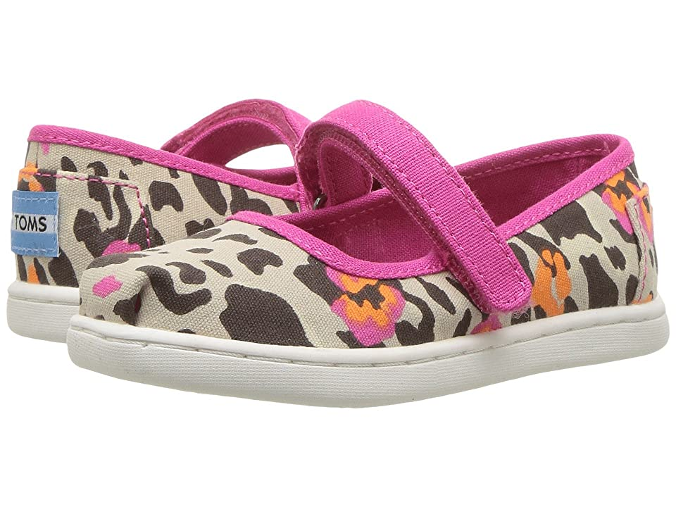TOMS Kids Mary Jane (Infant/Toddler/Little Kid) (Fuchsia Floral Leopard) Girls Shoes