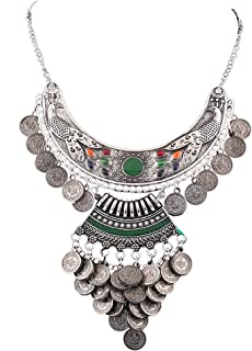 Aradhya Oxidized Silver Silver Plated and Necklace for Women's & Girl's