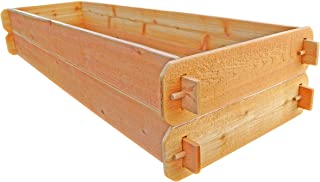 Timberlane Gardens Raised Bed Kit Double Deep (Two) Western Red Cedar with Mortise and Tenon Joinery, 24