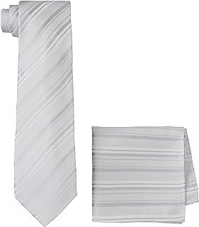 [ドレスコード101] ネクタイ チーフ 2点セット (洗濯機で洗える) 新郎 結婚式 入学式やパーティーで活躍 全5色 メンズ ハンカチ ポケットチーフ ストライプ TIE-CF-2SET