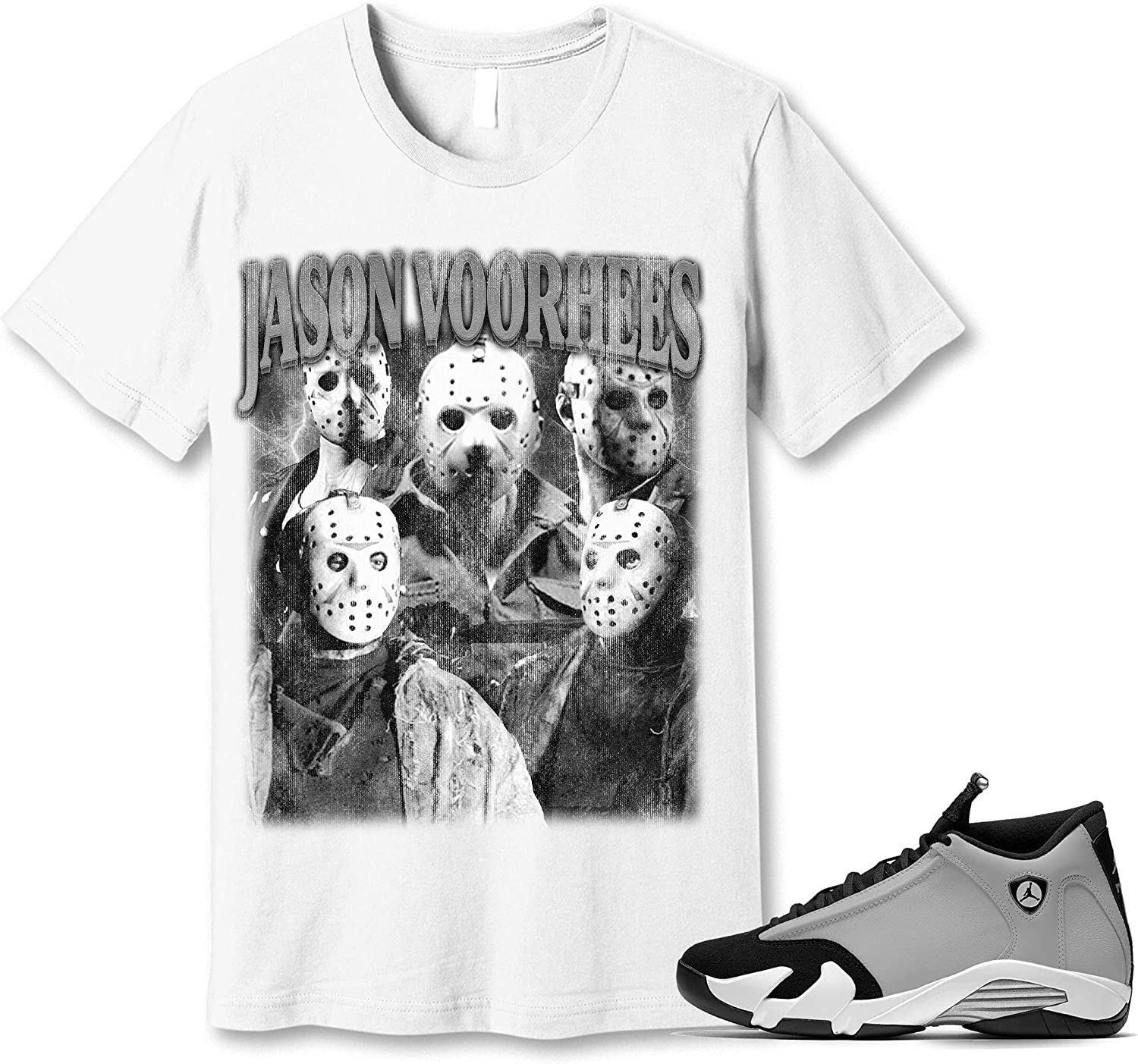#Jason #Voorhees Indianapolis Mall T-Shirt to Match Particle Black Grey 14 Jordan Ranking TOP8