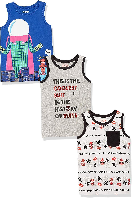 Amazon Brand - Spotted Zebra Boys' Disney Star Wars Marvel Sleeveless Tank Top T-Shirts