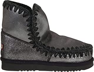 Mou Luxury Fashion Womens MUFW101001CMGBLK Grey Ankle Boots | Fall Winter 19