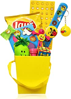 Mega Emoji Gift Basket For Kids! - 12 piece - Package Includes Emoji Activities, Toys, Watch And Treats! Fun Gift Set For All Children - Girls & Boys, ages 3-12