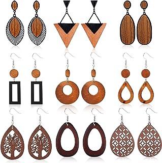 Wooden Earrings Dangle Earrings Diamond Shape Earrings Trendy Earrings Wood Earrings Statement Earrings D14 Lightweight Earrings