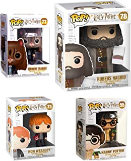 Funko Cake Hagrid Big Figure & Herbology Harry Potter Pop Character Wizard Collectibles Hermione as a cat Bundled with & Harry Earmuffs + Ron Weasley Vinyl 4 Items Wizard Collectibles