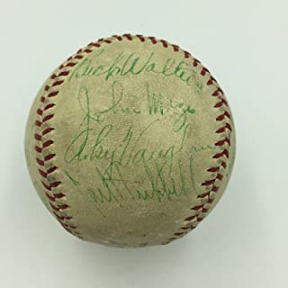 1937 All Star Game Team Signed Baseball Dizzy Dean Arky Vaughan Paul Waner - PSA/DNA Certified - Autographed Baseballs
