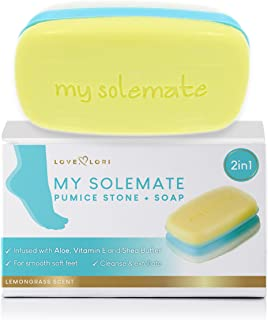 2 in 1 Foot Pumice Stone Scrubber And Callus Remover Cracked Heel Treatment With Lemongrass Moisturizing Foot Soap - My So...