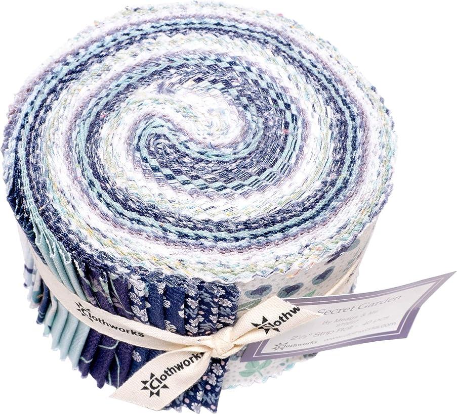 Meags & Me Secret Garden Strip Roll 40 2.5-inch Strips Jelly Roll Clothworks