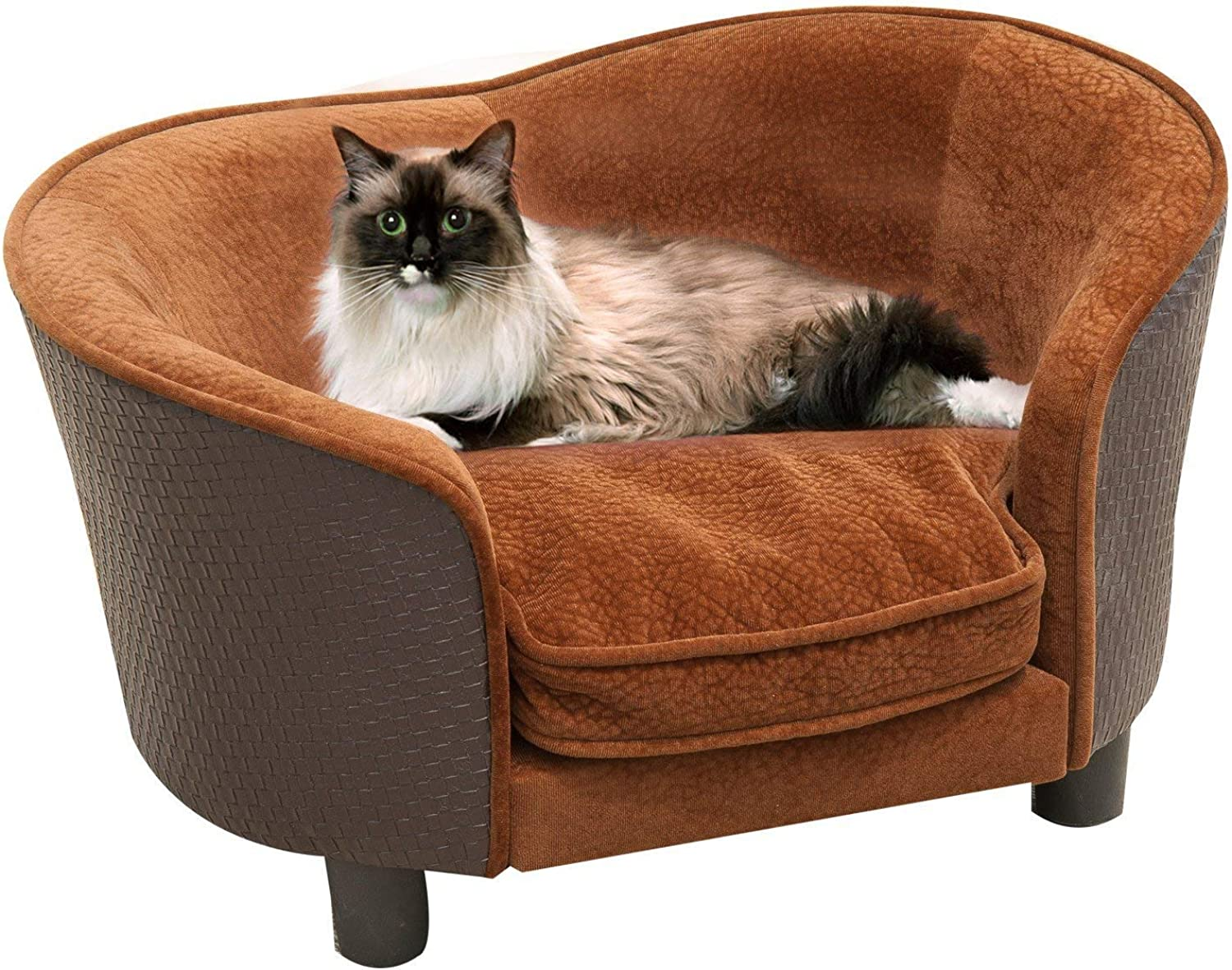 Festnight Pet Dog Cat Sofa Bed Warm Dog Bed Chair with Removable Washable Cushion