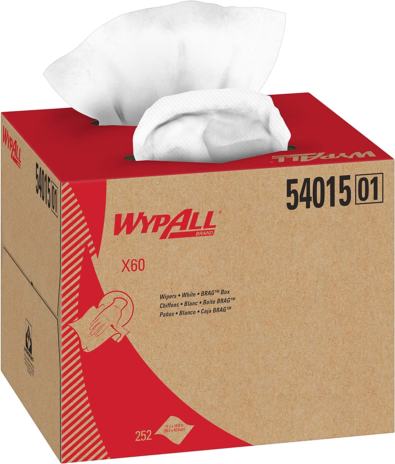 Wypall X60 Reusable Cloths 54015 in 70% OFF Outlet Sheet Brag White 40% OFF Cheap Sale 252 Box