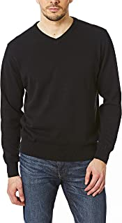 Castle Point Men's CSPKNT003 100% Cotton Soft Touch Crew Neck Knitted Jumper Sweater