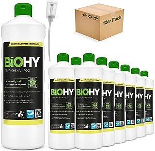 BiOHY Szampon do dywanów (12 x butelka 1l) + dozownik   Środek do czyszczenia dywanów idealny do usuwania uporczywych plam...