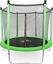 Pure Fun Dura-Bounce 8-Foot Outdoor Trampoline with Safety Enclosure, Ages 3 to 9