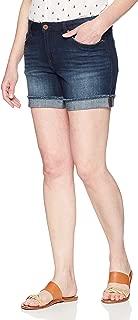 """Riders by Lee Indigo Womens Modern Collection Denim Ex-Boyfriend 5"""" Rolled Cuff Short Denim Shorts - Blue"""