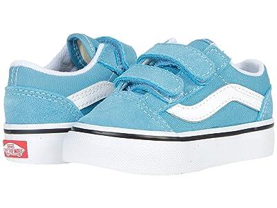 Vans Kids Old Skool V (Infant/Toddler) (Delphinium Blue/True White) Kids Shoes