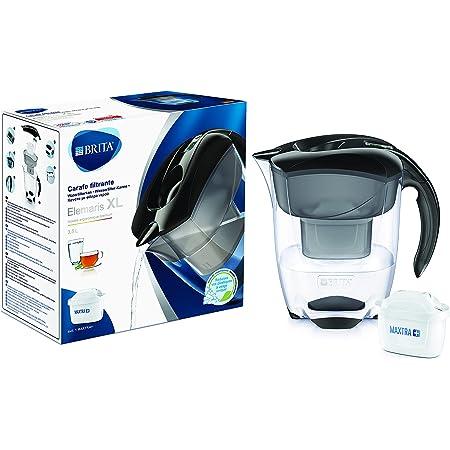 BRITA Carafe filtrante Elemaris XL noire - 1 filtre MAXTRA+ inclus
