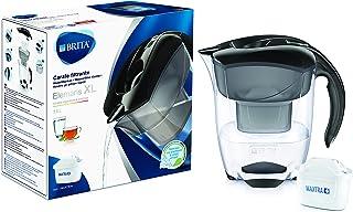 BRITA, Carafe Filtrante, Elemaris XL, 3.5L, 1 Cartouche Filtrante MAXTRA+ incluse - Noir