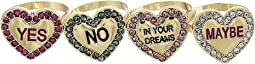Betsey Johnson - Conversation Heart Ring Set