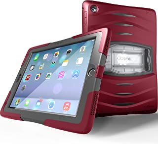 UZBL Shockwave Case for iPad 9.7 6th Generation / 5th Generation, Heavy Duty Rugged Case with Screen Protector and Removable Kickstand for iPad 9.7 2018/2017 Release, Wine