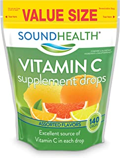SoundHealth Vitamin C Drops, Assorted Citrus Flavor, 140 Count