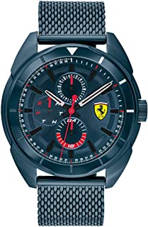 Ferrari Men's Forza Quartz Blue IP and Bracelet Casual Watch, Color: Blue (Model: 830638)