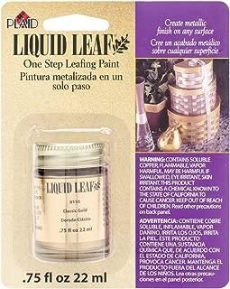 Plaid:Craft Liquid Leaf One Step Leafing Paint 0.75-Ounce Classic Gold