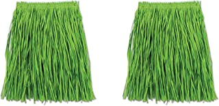 Beistle S54581-GAZ2 Adult Mini Hula Skirt 2 Piece, Green