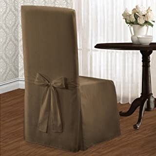 (taupe, 19inx39in) - United Curtain Co. Metro Parson Chair Slipcover Colour: Taupe