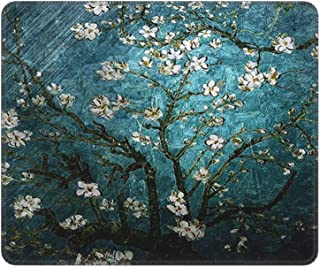 Mouse Pad Vincent Van Gogh Almond Blossoming Mousepad with Stitched Edges Non-Slip Rubber Gaming Mat Funny Rectangle Pads ...