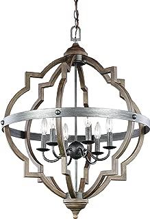Sea Gull Lighting 5124906-846 Socorro Six-Light Hall or Foyer Light Fixture, Stardust Finish
