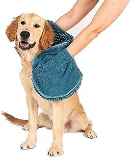 Dog Gone Smart A toalha original Dirty Dog Shammy ultra absorvente de microfibra de secagem rápida com bolsos de mão para ...