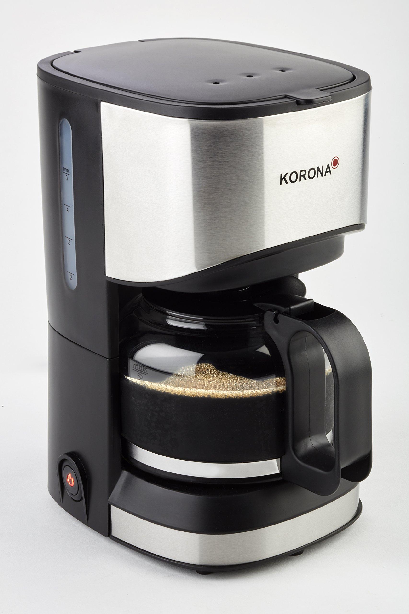 Korona 12015 - Cafetera (Independiente, Máquina de café en cápsulas, 0,7 L, De café molido, 550 W, Negro, Acero inoxidable): Amazon.es: Hogar