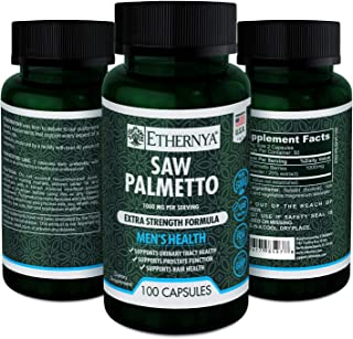 Saw Palmetto | Supports Prostate Function and Urinary Health | Extra Strength Formula | 1000 mg per serving | Ethernya | M...