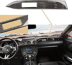 Car Interior Trim Carbon Fiber Center Console Panel Sticker for 2015-2017 Mustang