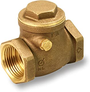 Everflow 210T001-NL 1-Inch Lead Free Brass Swing Check Valve with Female NPT Threaded, 200 PSI WOG & 125 PSI SWP, Brass Construction, Higher Corrosion Resistance Economical, Durable & Easy to Install